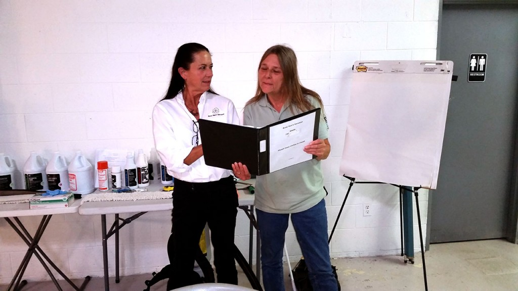 Classroom Training: Blu Cleaning's Brenda and Mary